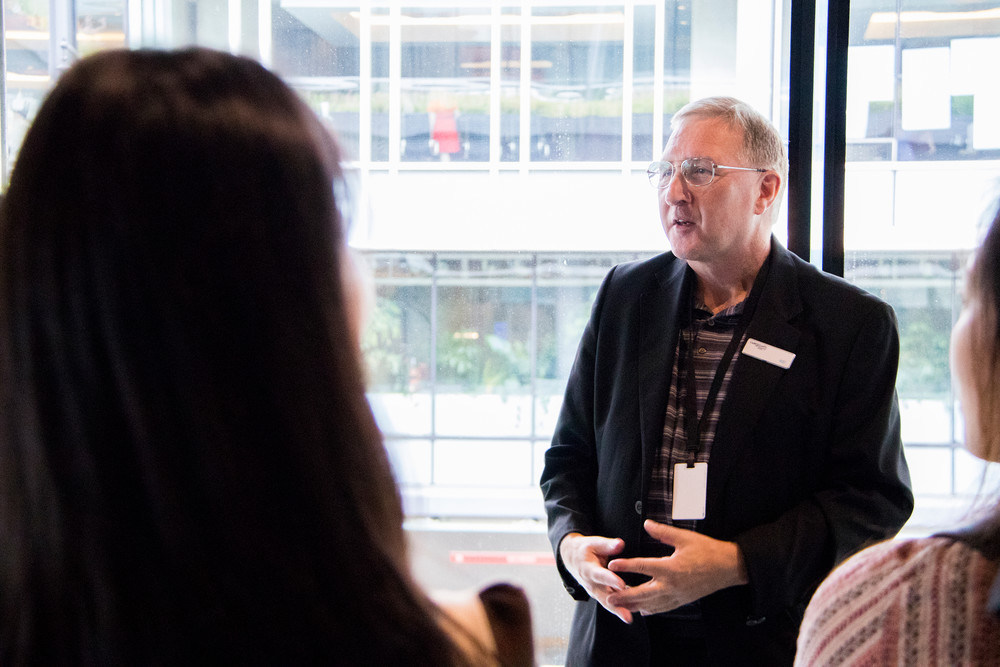 Rod MacLean, Facilities Assistant leads a public tour at the Vancouver Convention Centre